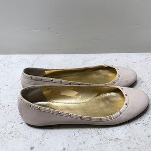 J. Crew Nude Ballet Flats with Gold Studs 9